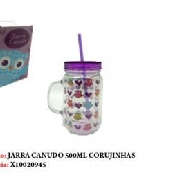 JARRA CANUDO CORUJINHAS 500ML
