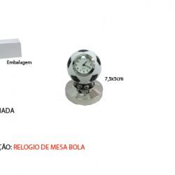 BOLA DE FUTEBOL EM MINIATURA C/ RELÓGIO