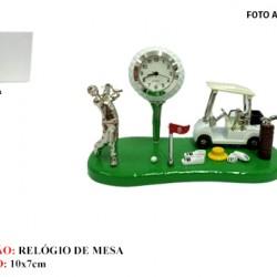 CAMPO DE GOLF EM MINIATURA C/ RELÓGIO. TAM: 11X5.5X7CM